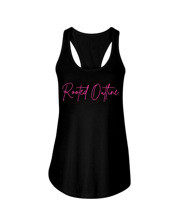 Pink Signature Ladies Tank Top - Rooted Outline Co.
