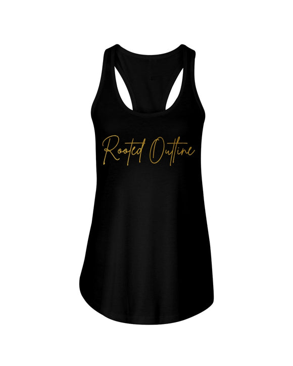 Gold Signature Ladies Tank Top - Rooted Outline Co.