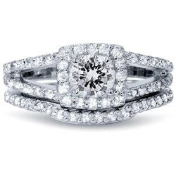 Real 120CT Round Pave Halo Split Shank Diamond Engagement Wedding Rin Super Discount Daily