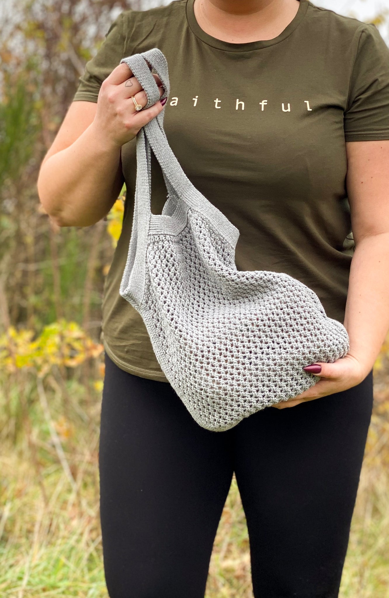 Knitted Tote Bag by ByLohn
