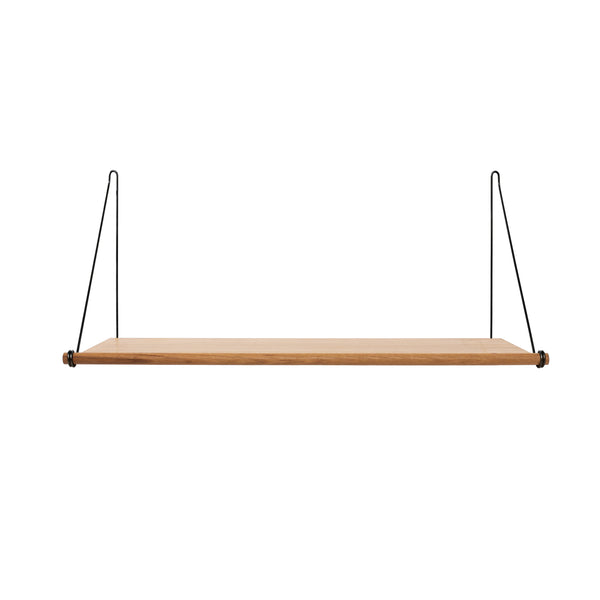 Loop Shelf, Oak, Black
