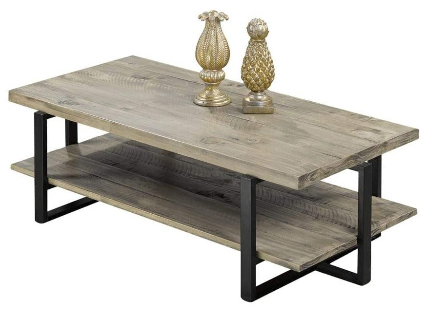 Distressed, Brushed Grain Coffee Table