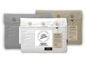 Alamode Home Washed Linen Cotton Sheets - Various Colours