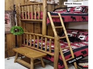 Black Bear or Black Moose Quilt Set