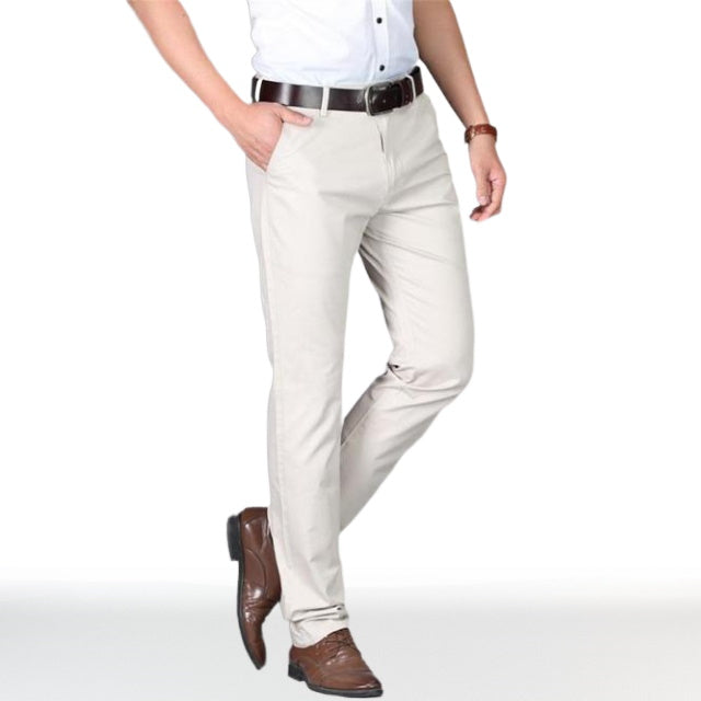 Chino Gris Chemise Blanche
