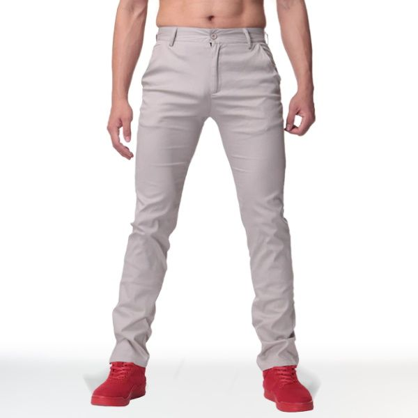 Pantalon Chino Straight Gris