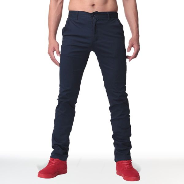 Pantalon Chino Straight Bleu Navy