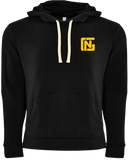 Black Hoodie with Yellow Print