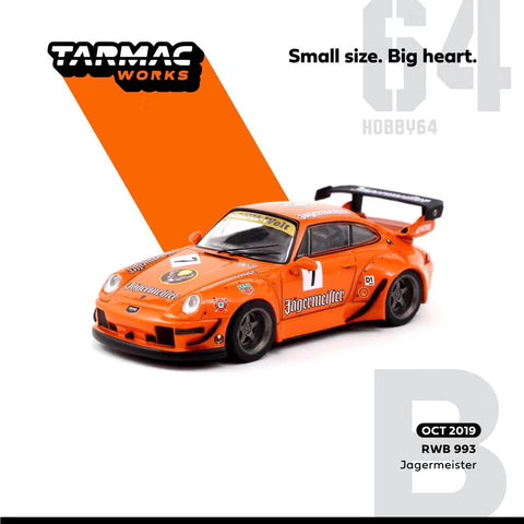 Tarmac Works 1:64 RAUH-Welt RWB 993 Jagermeister #7 Race Diecast Model Car