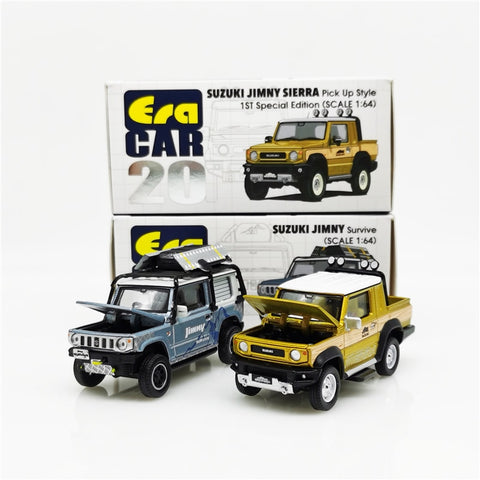 Era Car 1:64 Suzuki Jimny Survive Metallic Blue/Sierra Pickup style Gold Box#20