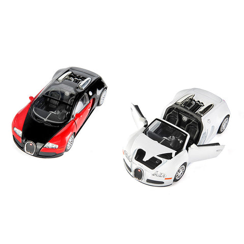 1/24 alloy car model bugatti veyron car red black die-cast model collectible toy gift