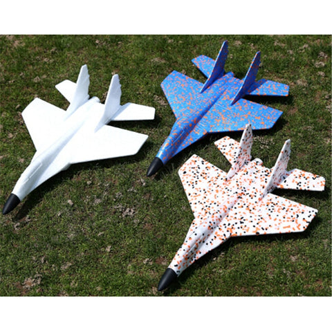DIY Hand Throw Flying Glider Fighter Planes Foam Aeroplane Model Party Bag Fillers Flying Glider Plane For Children Kids Toys