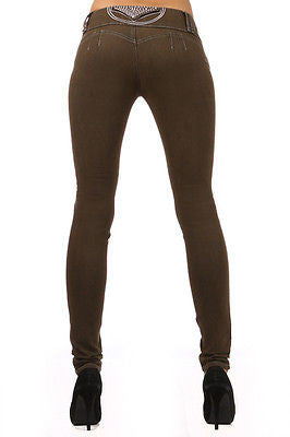 4da3cc52 Stretch Push-Up Levanta Cola Skinny Jeans Brown: Silver Diva DJ1287 USA  seller ...