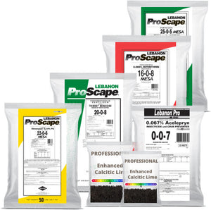 4 Round ProScape  Premium Annual Program plus Professional Lime & Preventative Grub Control( up to 15,000 sq. ft)
