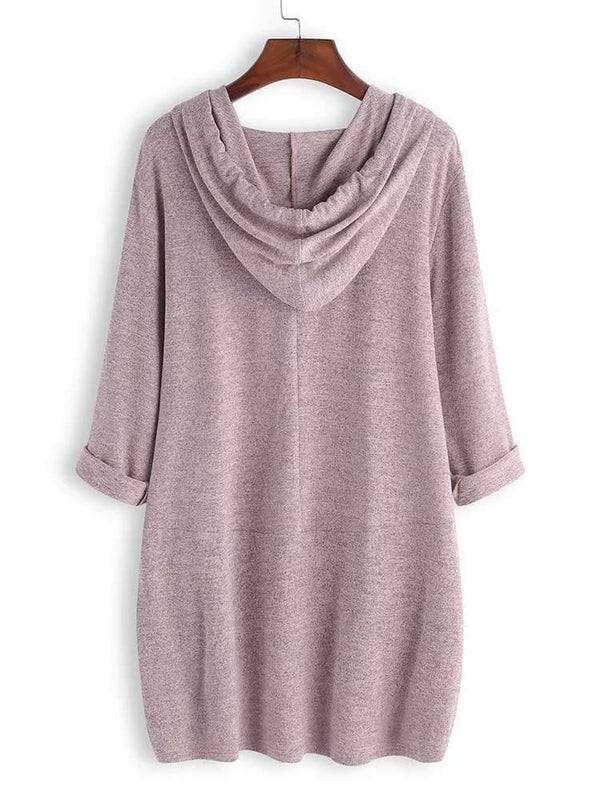 Fashion Hooded Loose Blouse