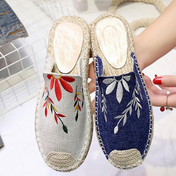 Women Embroidered Classic Canvas Loafers