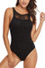 Sheinlove Lace Panel One Piece Swimsuit