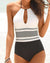 HalterStriped One Piece