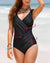 Spaghetti Strap Draped Plain One Piece