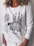 Brief Casual Printed Round Neck Long Sleeve T-Shirt