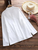 Casual Long Sleeve V-neck Pullover Women Blouse