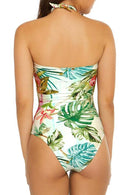 Sheinlove Halter Printed One Piece Swimwear