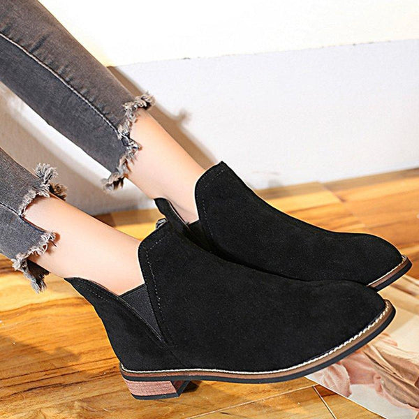 Women's Shoes Chunky Heel Pointed Toe Elegant Boots