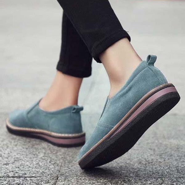 Women Classic Flat Shoes Comfortable Round Toe Leisure Loafers Shoes