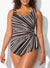 PRISM SARONG FRONT ONE PIECE SWIMSUIT