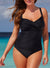 BLACK RUCHED SWEETHEART ONE PIECE SWIMSUIT