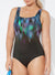 CHLORINE RESISTANT LYCRA XTRA LIFE SHADOW SQUARE NECK ONE PIECE SWIMSUIT