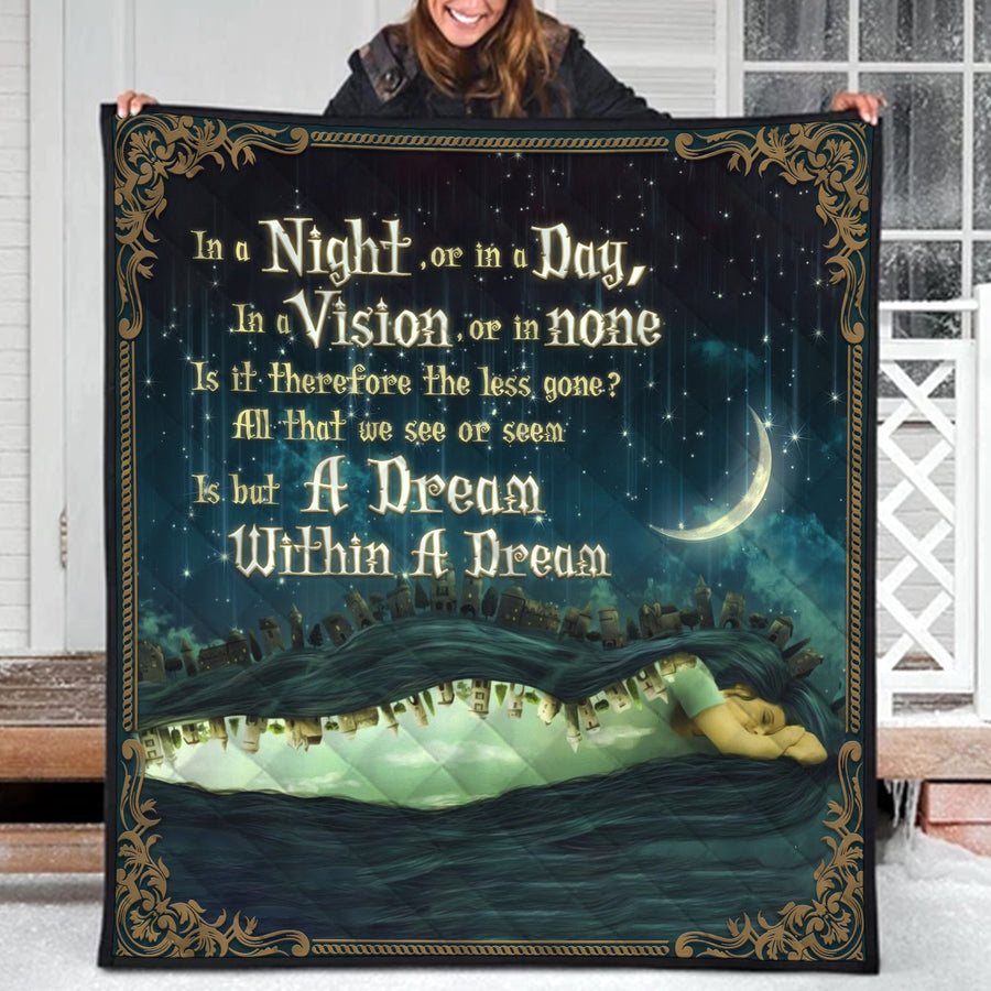A Dream Within A Dream Edgar Allan Poe Quilt