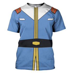 Amuro Ray Mobile Suit Gundam T-Shirt / S Qm644