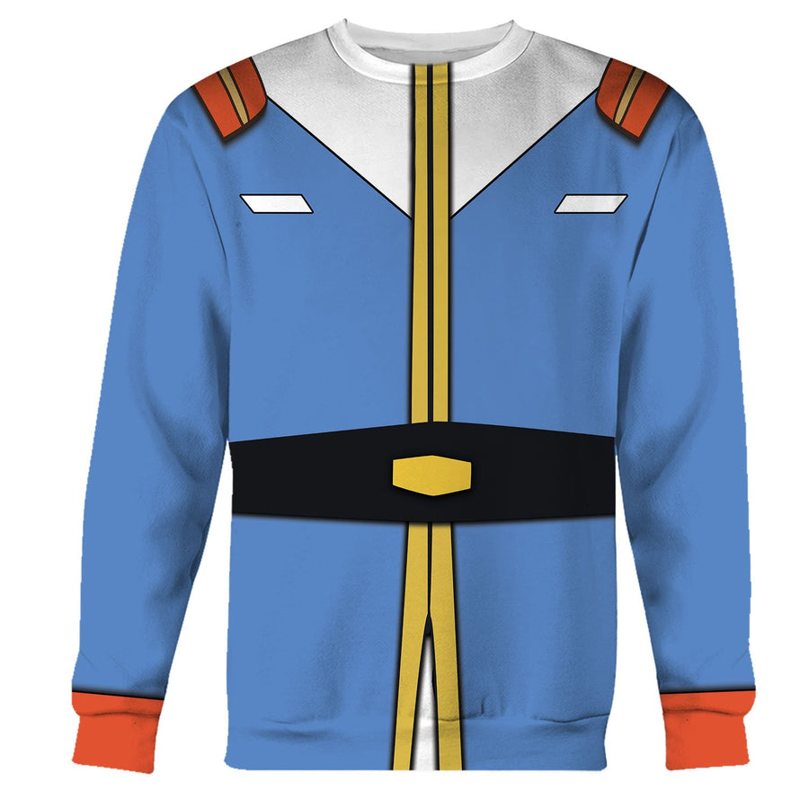 Amuro Ray Mobile Suit Gundam Long Sleeves / S Qm644