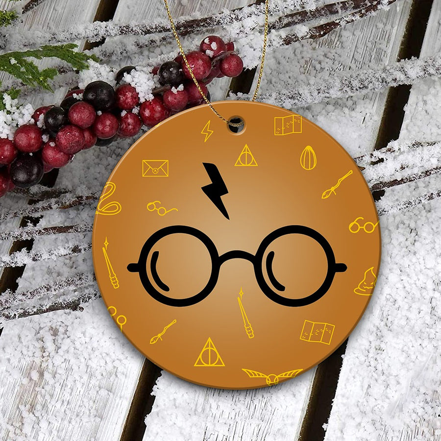 Harry Potter Glasses And Lightning Mica Ornament
