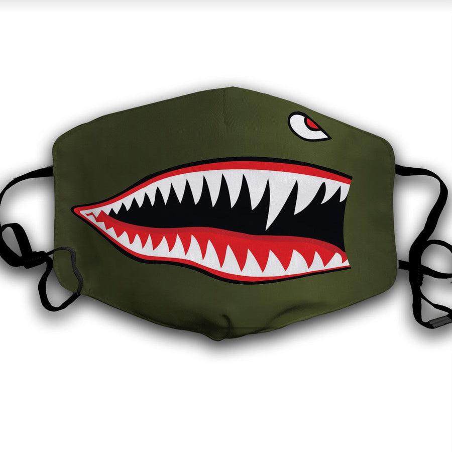 Flying Tigers Nose Warhawk Face Mask
