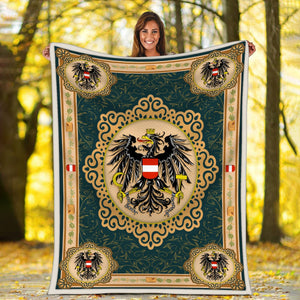Austria Coat Of Arms Blanket
