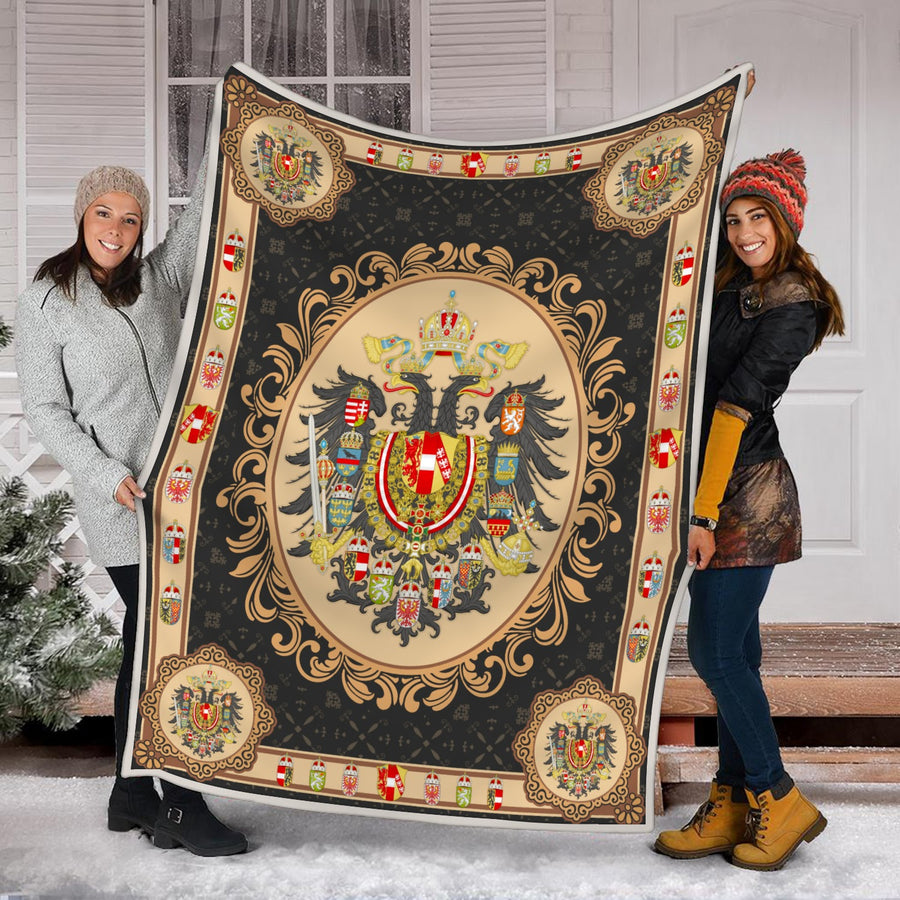 Austria-Hungary Coat of Arms Blanket