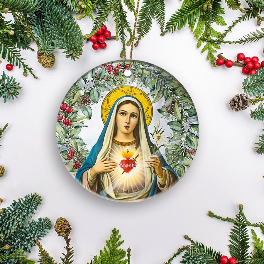 Mama Mary Mica Ornaments