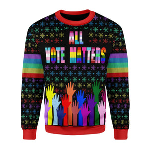 All Vote Matters Ugly Christmas Sweater