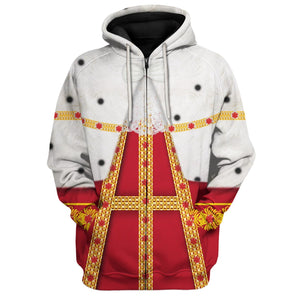 All Over Printed King George Hamilton Zip Hoodie / S George20120