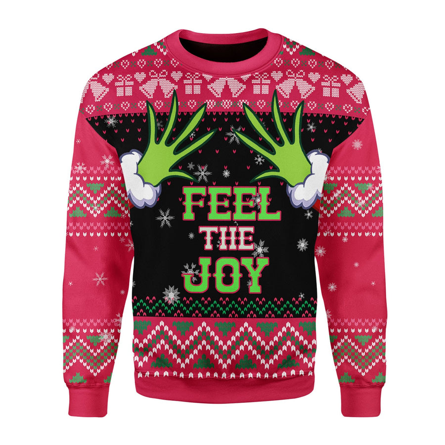 Feel The Joy Grinch Ugly Christmas Sweater
