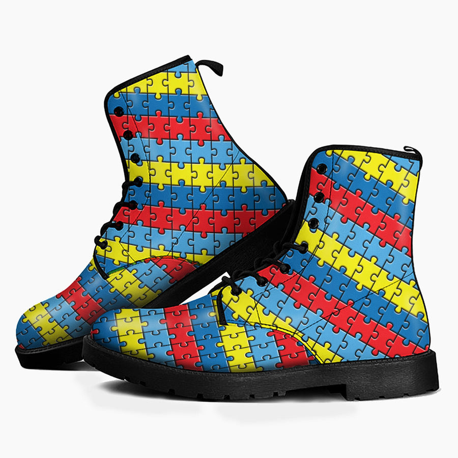 Autism Leather Boots