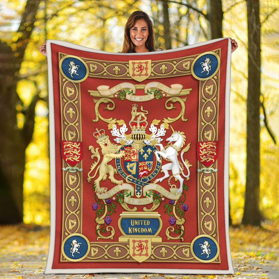 United Kingdom Coat of Arms Blanket