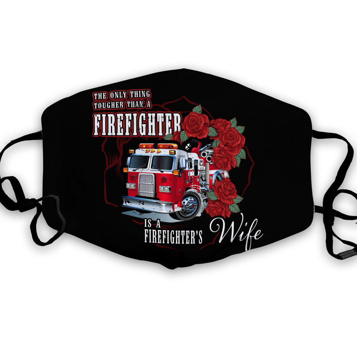 Firefighter's Wife face mask