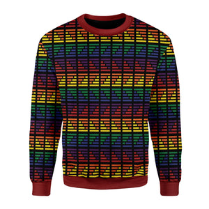 LGBT Flag Ugly Christmas Sweater