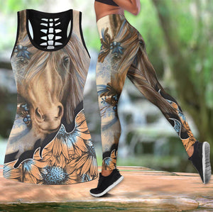 Beautiful Horse Tank Top And Leggings