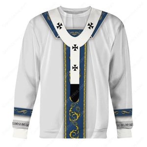 Pope Francis in White Liturgical Vestments
