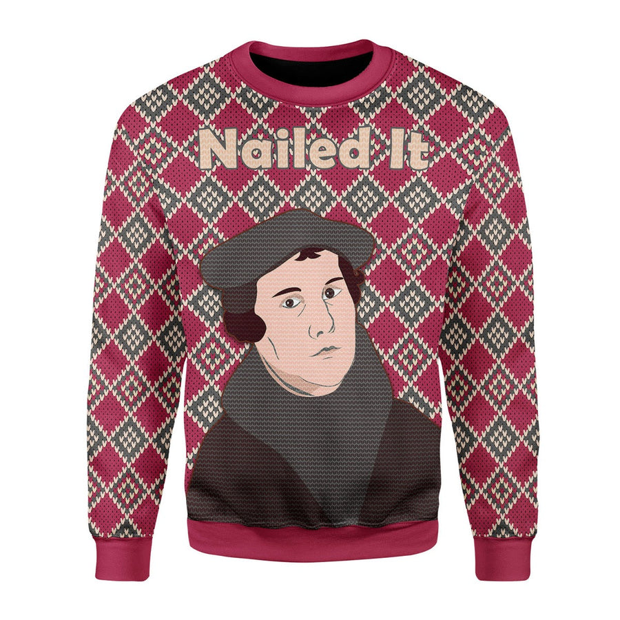 Martin Luther Christmas Ugly Sweater