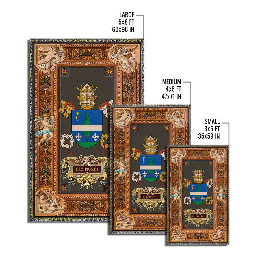 Pope Leo XIII Coat Of Arms Rug